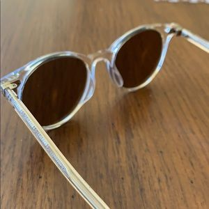 Oliver people's gold and clear sunglasses